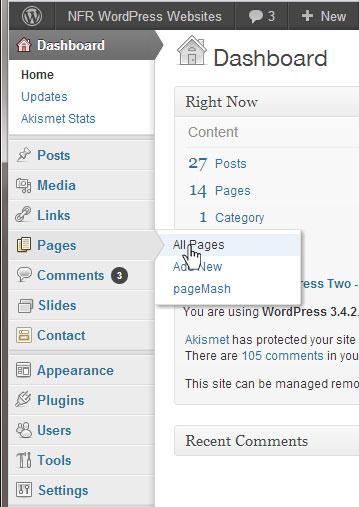ct web designer dashboard