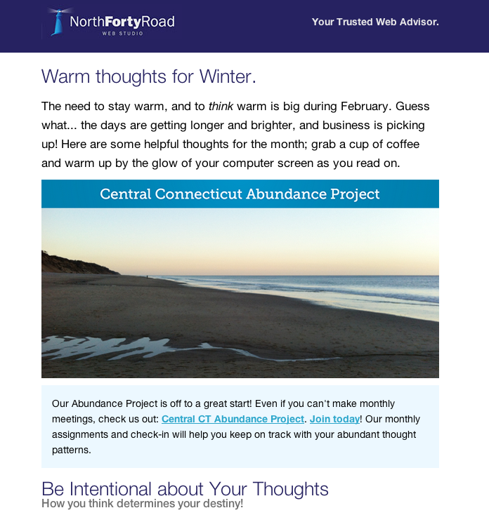 February 2014 CT Web Design Newsletter